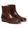 A.P.C. Leather Side Zip Boots Mr Porter