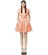 Avrile Apricot Pleated Bell Skirt Dress REISS
