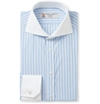 Turnbull Asser Blue Slim Fit Contrast Collar Cotton Shirt Mr Porter