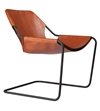 Paulistano Terracotta Leather Chair With Black Frame Lounge Armchairs Living Room Shop By Room The Conran Shop Uk
