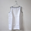 sleeveless tunic in white linen