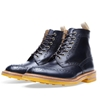 Tricker 27s x End Hunting Co Stow Brogue Boot Navy Aniline 26 Empire Yellow
