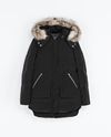 Zip Puffer Jacket With Hood Coats Woman Zara United Kingdom