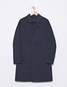 Mackintosh Dunkeld Rubberized Cotton Coat Navy Nitty Gritty Store