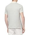 Redline Ecru Short Sleeve Knitted Geo Stripe Polo REISS