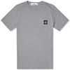 Stone Island Garment Dyed Tee Light Grey Marl