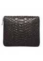 Rick Owens Zip Python New Wallet Black