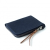 Canvas Zip Slim Wallet Navy Heavy Cotton Duck