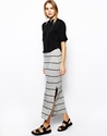 Selected Selected Maia Maxi Skirt In Stripe At Asos