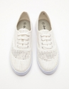 Mesh Top Sneaker In White