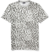 Product Lanvin Printed Cotton Blend Jersey T Shirt 396948 Mr Porter