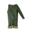 Sth Online Shop e2 80 94 STH Slimy green long sweater with fringe