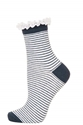 Lace Trim Stripe Ankle Socks Topshop