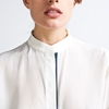 Silk Blouse Band Collar Everlane