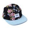 Black Rose 5 Panel Cap Hat