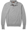 Doriani Long Sleeved Suede Trimmed Cashmere Polo Shirt Mr Porter