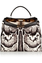 Fendi Peekaboo Medium Printed Calf Hair Tote Net A Porter.Com