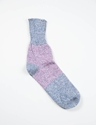 Blue Pink Linen Silk Knit Socks Anonymousism