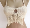 Beige Festival Crochet Bikini Top Summer Fashion By Senoaccessory