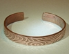 Cuff Bracelet With Swirling Waves On Copper By Nicilaskin On Etsy
