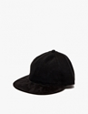 Cap In Black Overdyed Denim