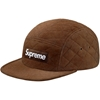 Supreme Quilted Suede Camp Cap Brown