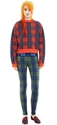 Acne Bird Tartan Red Check Shop Ready To Wear Accessories Shoes And Denim For Men And Women