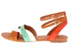 Marc By Marc Jacobs Color Weave Sandal Flat Orange Tan White Green Zappos Couture