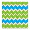 Turquoise and Green retro Chevrons Shower Curtain 3e Bed and Bath 3e After My Art by Catherine Holcombe