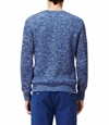 REISS Mens Damien Airforce Blue Multi Yarn Ribbed Crew Neck