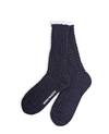 Norse Projects Bjarki Cable Socks Charcoal Grey Soto Berlin