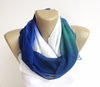 Color Block Scarf Infinity Scarf Women Chiffon By Senoaccessory