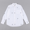 A.Four Printed Oxford L S Shirt White