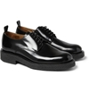 Ami Polished Leather Crepe Soled Derby Shoes Mr Porter