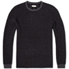 Folk Piano Birdseye Crew Knit Charcoal Navy