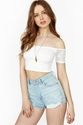 Layla Lace Crop Top Ivory in What 27s New at Nasty Gal