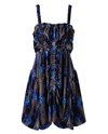 Christopher Kane Ruched Floral Velvet Dress Browns Fashion Designer Clothes Clothing