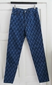 Vintage Rare 90'S Navy Blue Printed Moschino Logo Jeans 28 Uk 8 Ebay