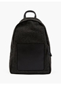 Men's Grey Felt And Leather Backpack