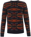 Navy Navajo Knit Jumper 2c YMC Shop the latest YMC collection online at Liberty co uk