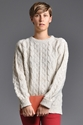 Hansom Cable Knit Jumper Cream 7c someplace