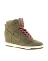 Nike 7c Nike Dunk Sky High Olive Wedge Trainers at ASOS