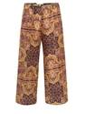 Carven 260 P12 Ink Shantung Print Trousers at Coggles