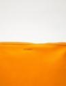 Medium Leather Pouch Tangerine