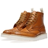 Tricker's X End. Vibram Sole Stow Brogue Boot Acorn Antique Leather