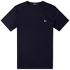 Fred Perry Crew Neck Plain Tee Navy