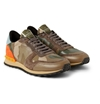Valentino Camouflage Printed Leather And Canvas Sneakers Mr Porter