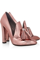 Alexander Wang Anais Metallic Leather Loafer Pumps Net A Porter.Com