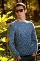 Hand Knitted Gray Men's Sweater With Aran By Hmandyshop On Etsy
