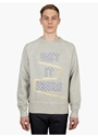 Men's Grey College Patch Sweatshirt